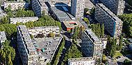 Vue aérienne du quartier du Chêne-Pointu, Clichy-sous-Bois