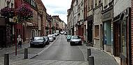 Vue sur la rue Camille Desmoulins à Guise