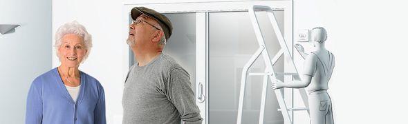 Travaux d'aménagement chez des personnes âgées