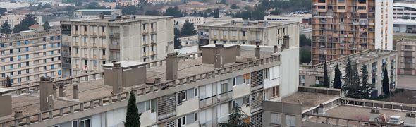 Vue panoramique du quartier Pissevin à Nîmes