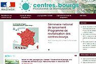 Capture écran du site dédié aux centres-bourgs